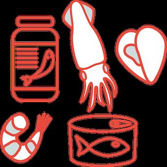 魚, タラ, 食品, 魚介類, することができます, 魚の缶詰, ラベル, エビ