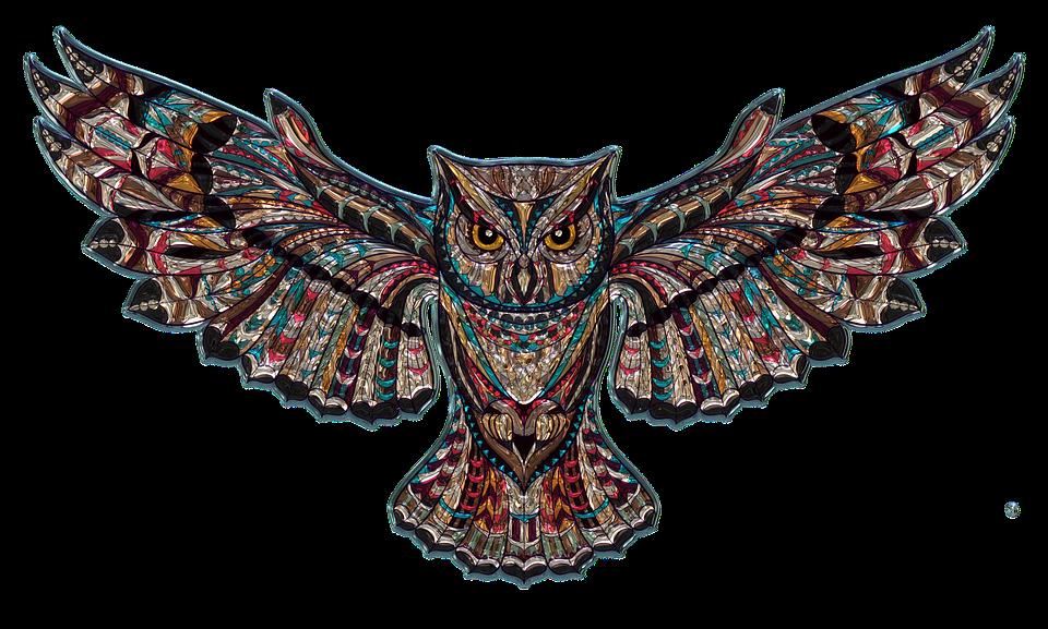 owl metallizer art free image on pixabay