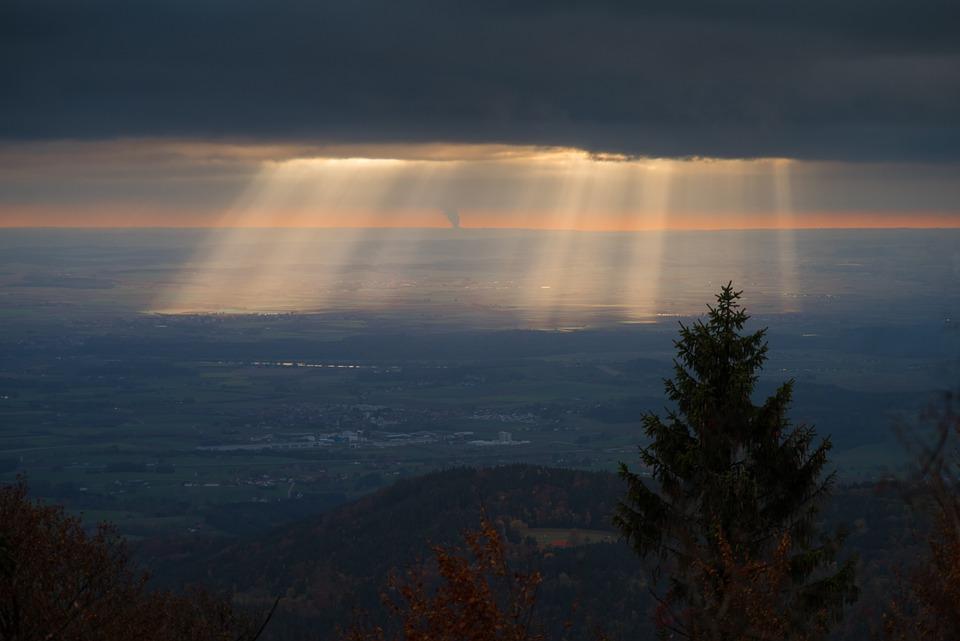 Zachód Słońca, Światło, Abendstimmung, Niebo, Krajobraz