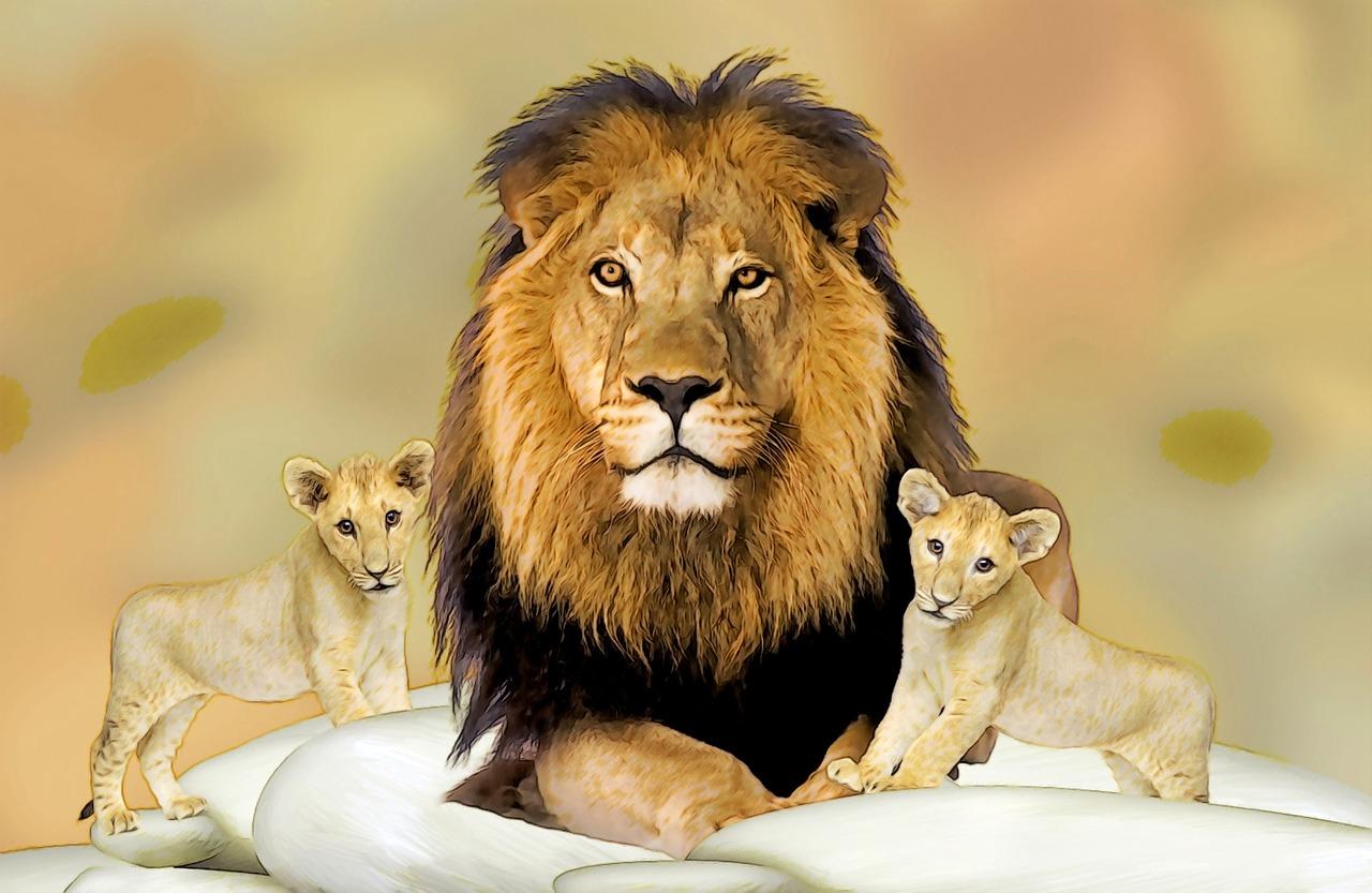 картинка львенок с папой есть все
