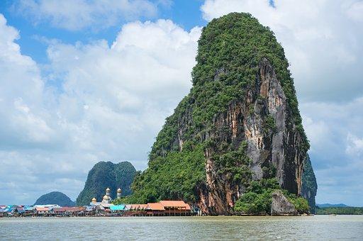 Teluk Phang Nga, Tebing Kapur, Alam