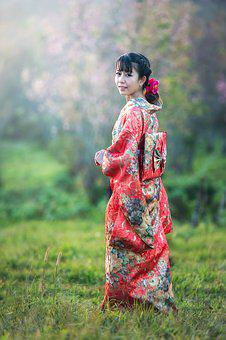 Asia, Seductive, Background, Flower