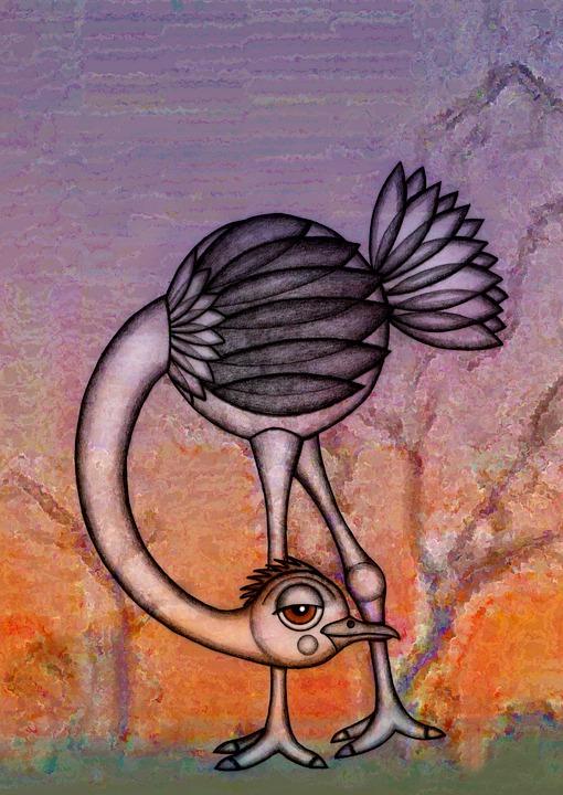 Deve Kusu Illustrasyon Cizim Pixabay De Ucretsiz Resim
