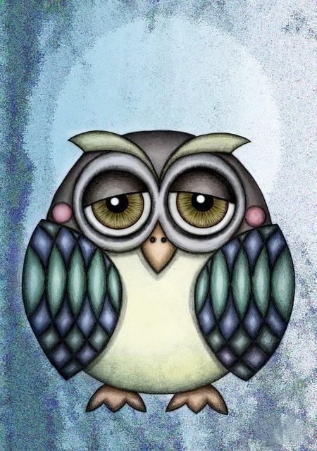 Owl Illustration Drawing 183 Free Image On Pixabay