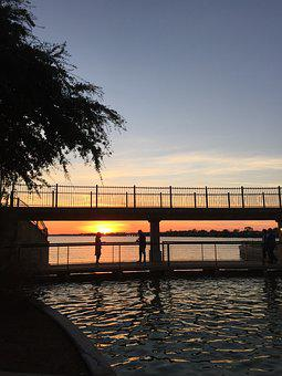 Rockwall, Harbor, Sunset, Lake, Sunny