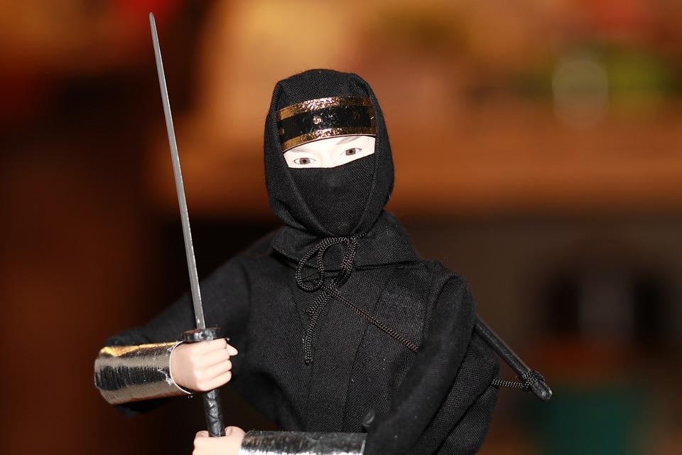 Ilustrasi ninja Jepang