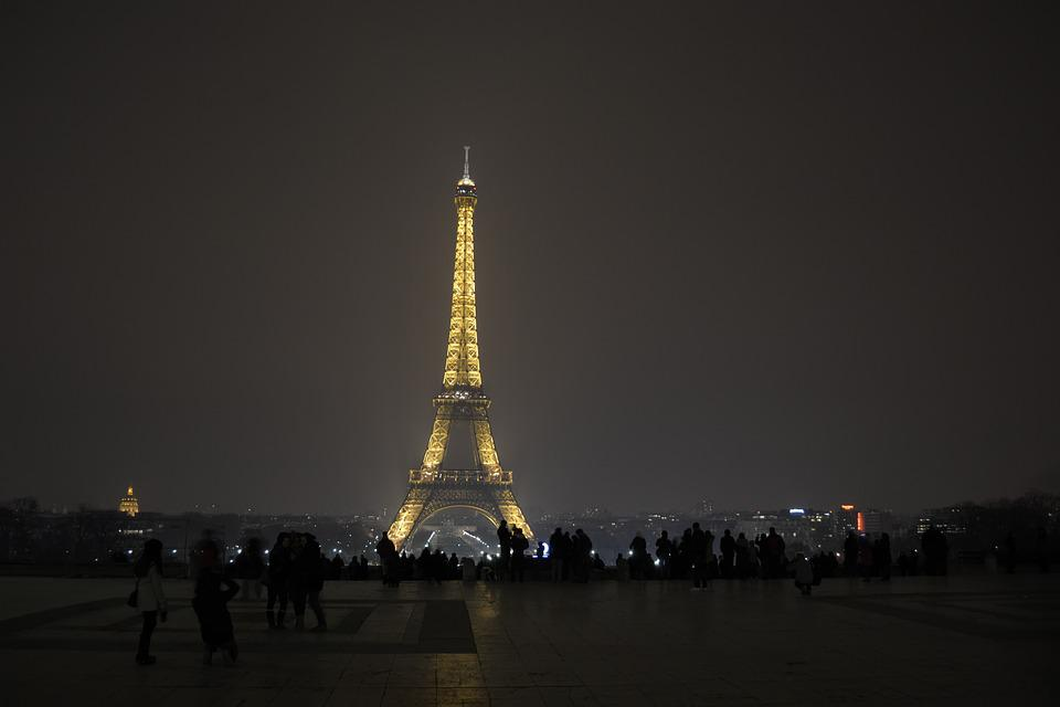 Paris Night Eiffel Tower Free Photo On Pixabay