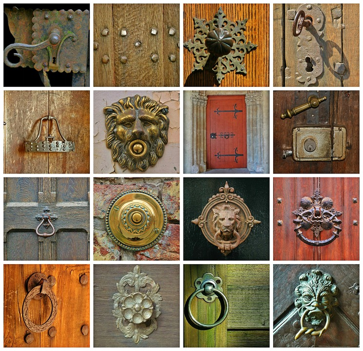 Porte, Doorknocker, Entrée, Entrée De La Maison, Métal