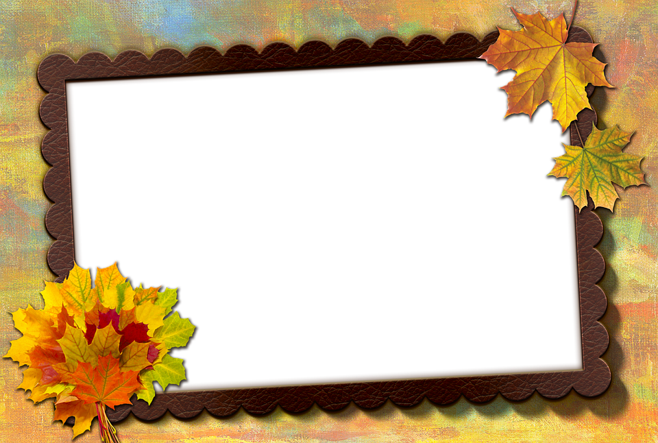 frame photo frame autumn leaf maple leather brown