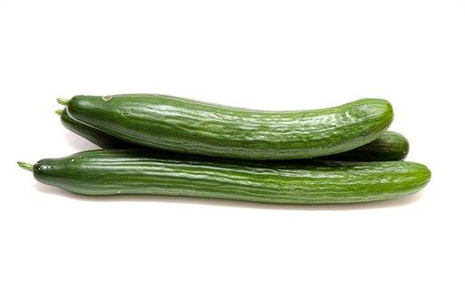 胡瓜, サラダ, 野菜, 食品, 健康, 新鮮, 緑, 食べる, ビタミン