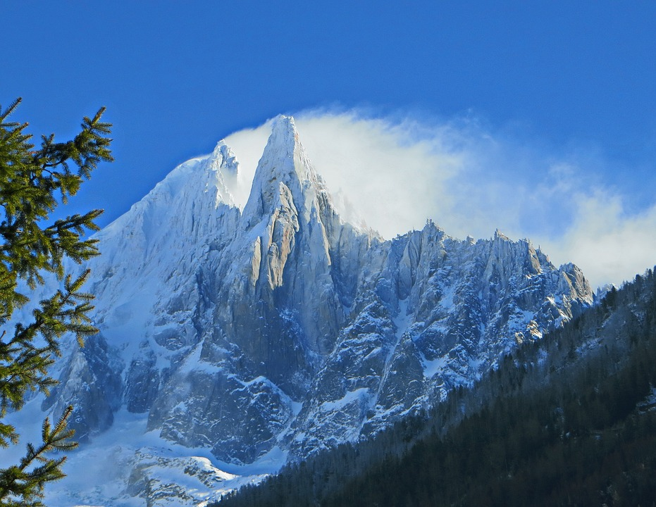 Águila Montañas Nevadas: Alps Chamonix Needle Of The Drus · Free Photo On Pixabay
