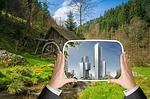 city, urban development, nature