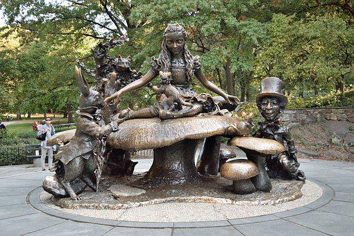 New York, Central Park, Statue, Alice