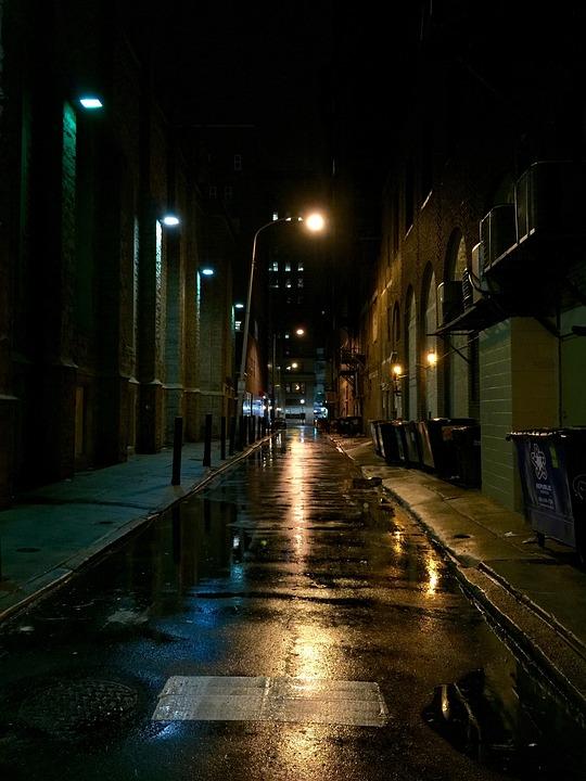 в городе ночь фото