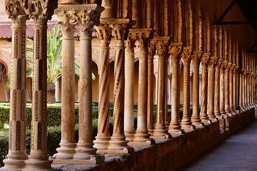 Sicilia, Monastero, Dom, Italia