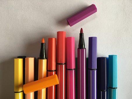 Colored Pencils, Felt Tip Pens, Crayons