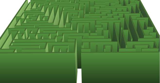 Maze, Hedge Maze, Green, Lost, Labyrinth