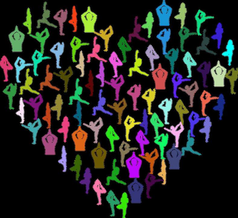 女性, 女の子, 人間, 人, ストレッチ, 運動, ヨガ, ポーズ, 健康, シルエット, 中心部, 愛