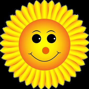 Słonecznik, Buźka, Twarz, Emoji