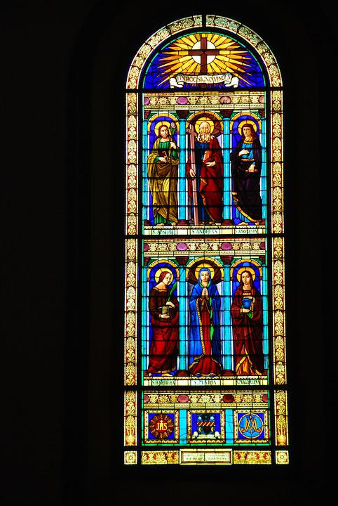 Stained Glass Window Church Color Tuscany Vinci
