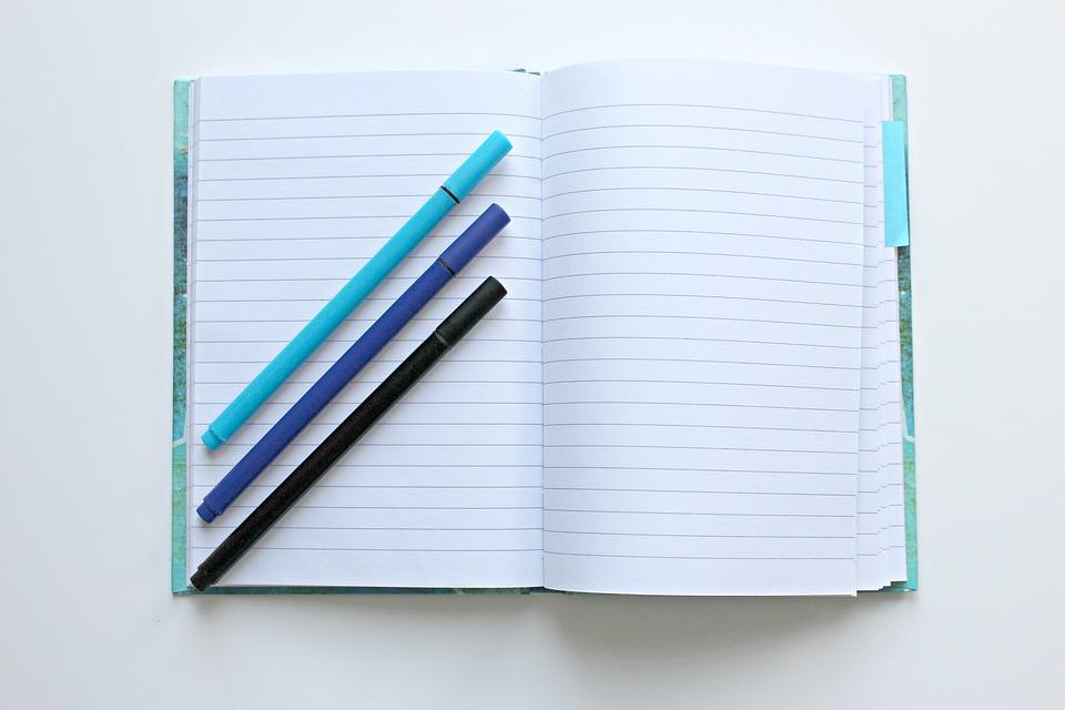 Cahier, Stylos, Notes, Écrire, Livre, Agenda, Bureau