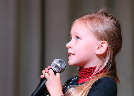 Mikrofon, Konzert, Mädchen, Szene