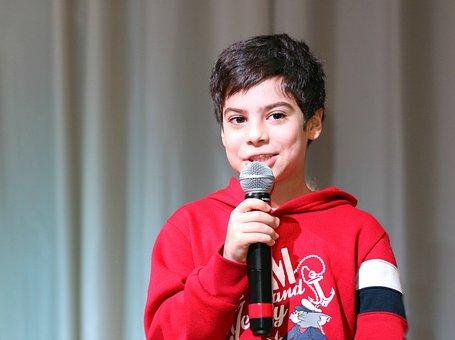 Speaker, Boy, Talk, Scene, Concert, Sing