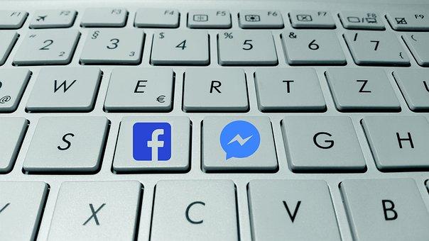 แป้นพิมพ์, ปุ่ม, Messenger, Facebook