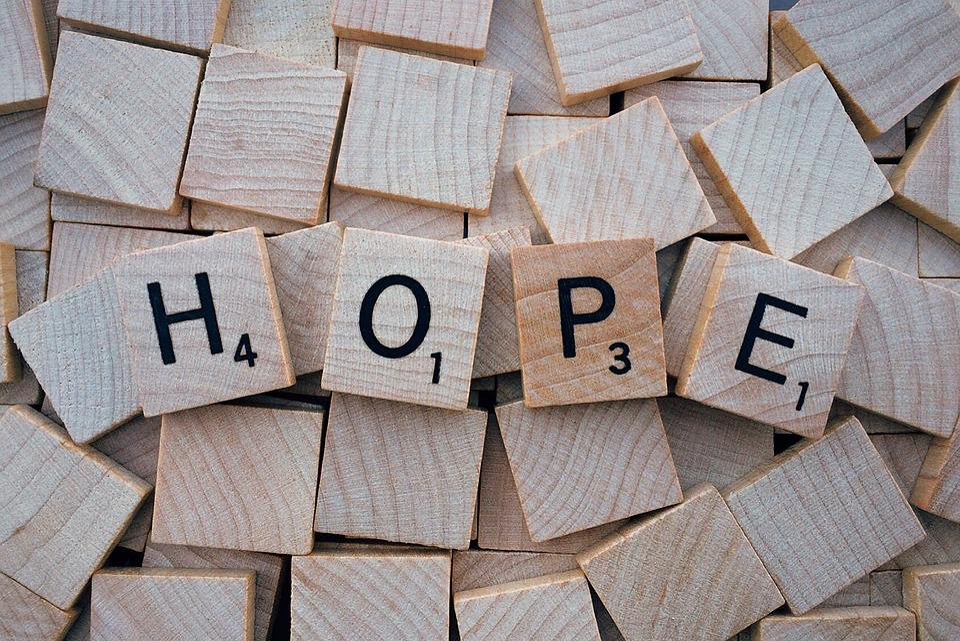 Hope, Word, Letters, Scrabble