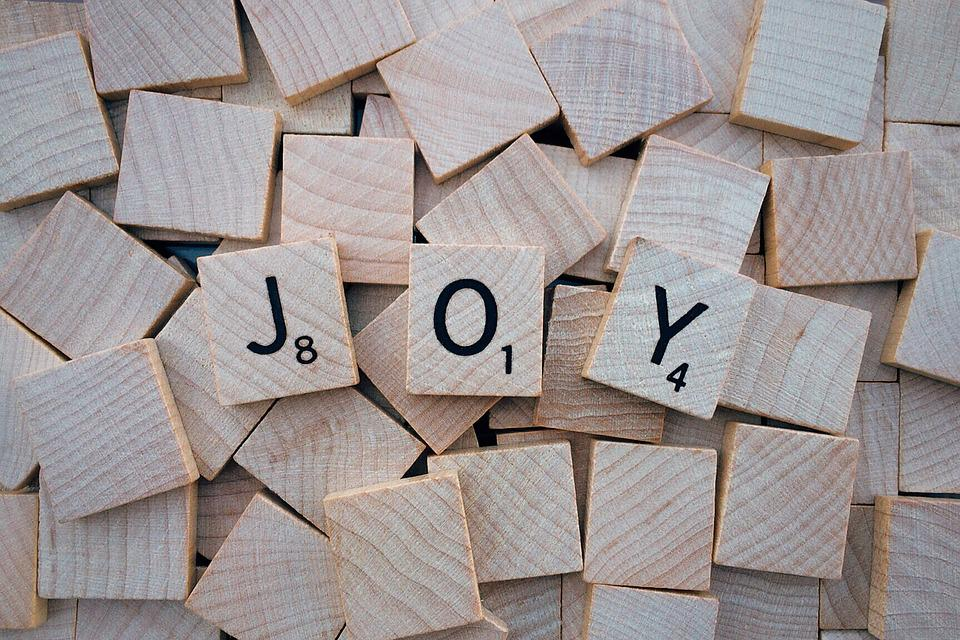 Joy, Word, Letters, Scrabble, Gray Letter