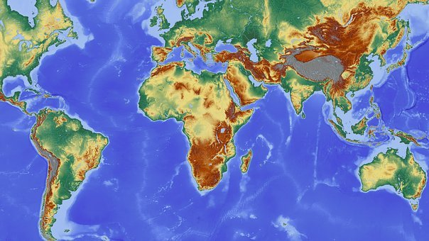 Africa, Map, Continent, South America