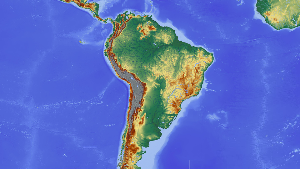 Free Illustration South America Amazon Brazil Free Image On - South america relief map peru