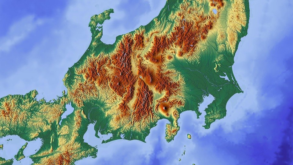 Free Illustration Japan Tokyo Fuji Map Relief Map Free - Japan map fuji