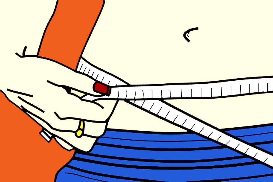 健康, ダイエット, フィットネス, 巻尺, 漫画, 重量, 損失, 重量の損失, 適合, ジム