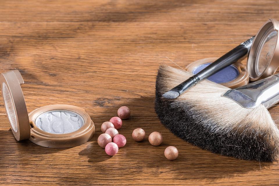 Makijaż, Kosmetyki, Puder W Kulkach, Pędzel Kosmetyczny
