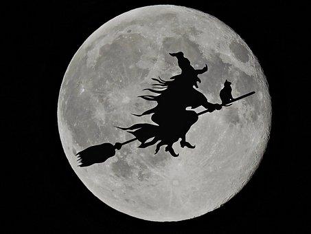 Луна, Вещица, Черни Котки, Хелоуин