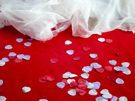 Wedding Petals Decor Confetti Red White Dr