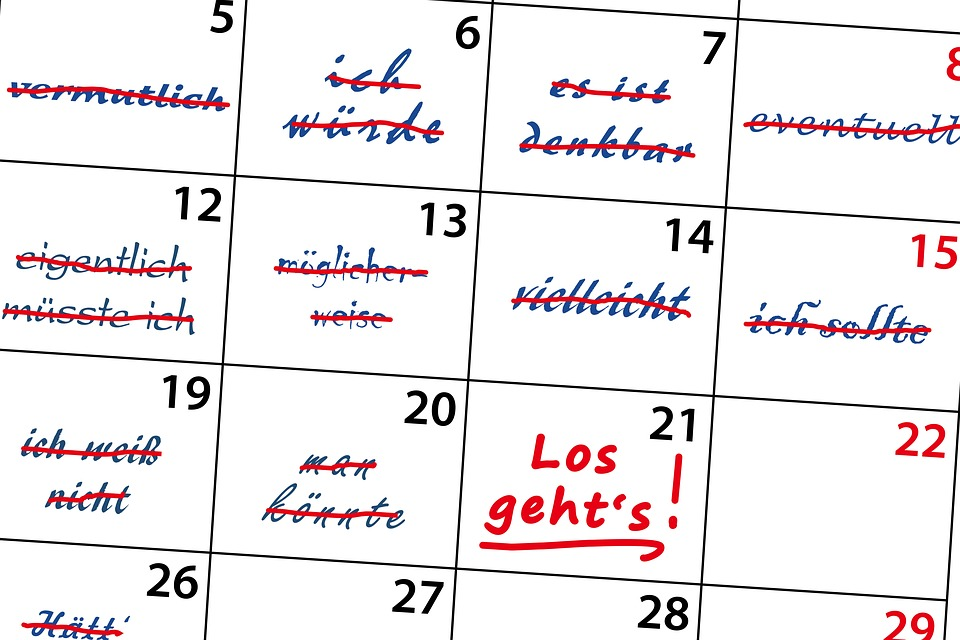 Calendario, Indecisione, Forse, Possibilmente, Dubbio