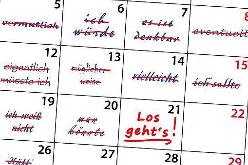 カレンダー, 優柔不断, 多分, おそらく, 疑い, 未定, 不確実性