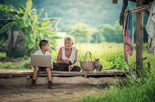 Isoäiti, Lapset, Kannettava Tietokone