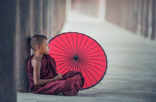 Buddhism Monk Monastery Umbrella