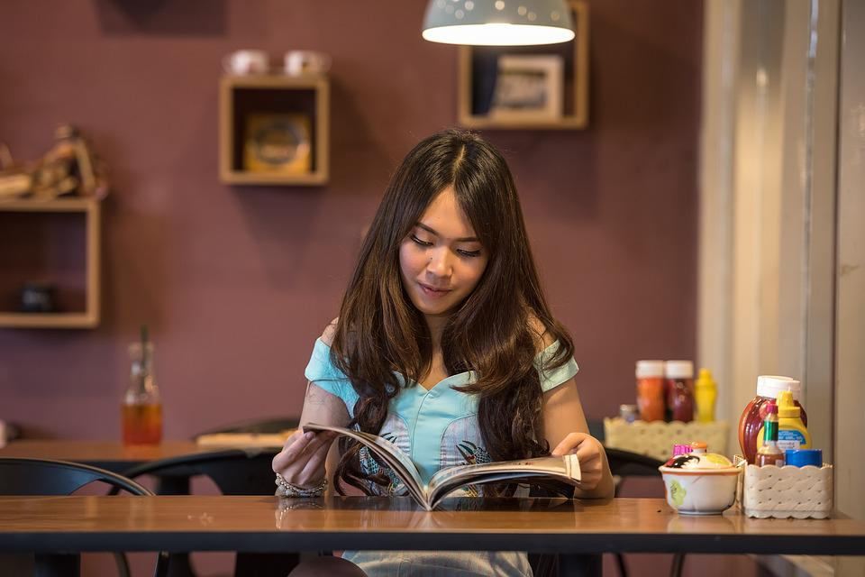 Asia, Orang Orang, Menggoda, Buku, Sarapan, Coklat