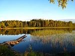 lake, summer, blue