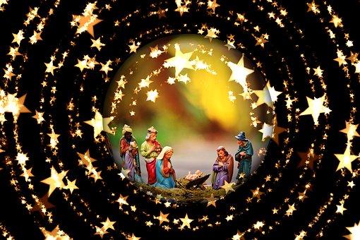 Lit D'Enfant, Noël, Crèche De Noël
