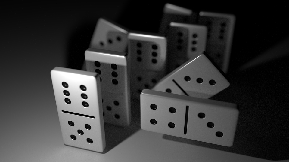 Free Illustration Dominoes Black White Domino Game