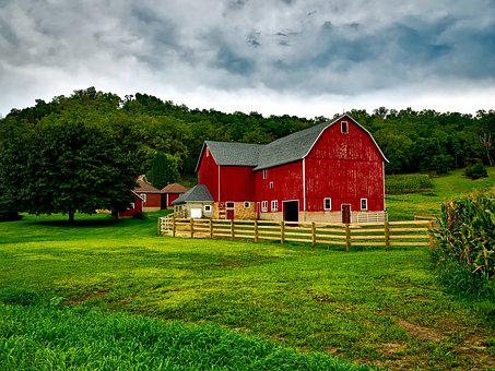 Wisconsin Farm Country Rural Landscape Sky