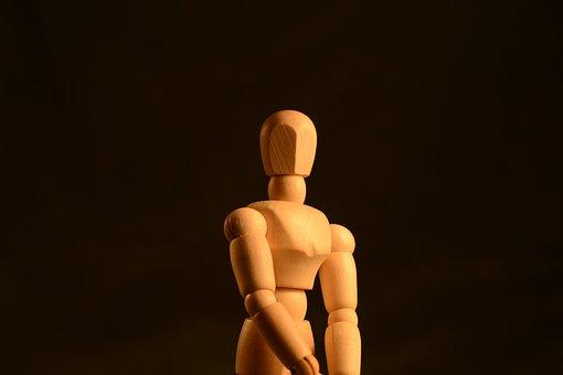 Figura, Posando, Cuerpo, De Madera