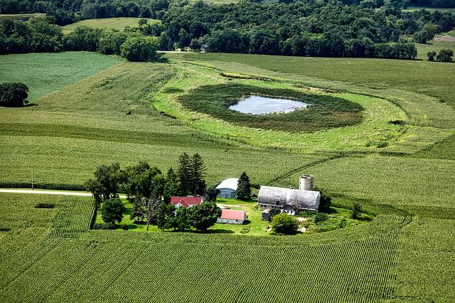 Free Photo Wisconsin Aerial View Farm Free Image On