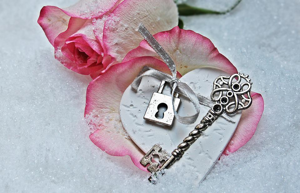 Hart, Sleutel, Steeg, Herzchen, Liefde, Romance