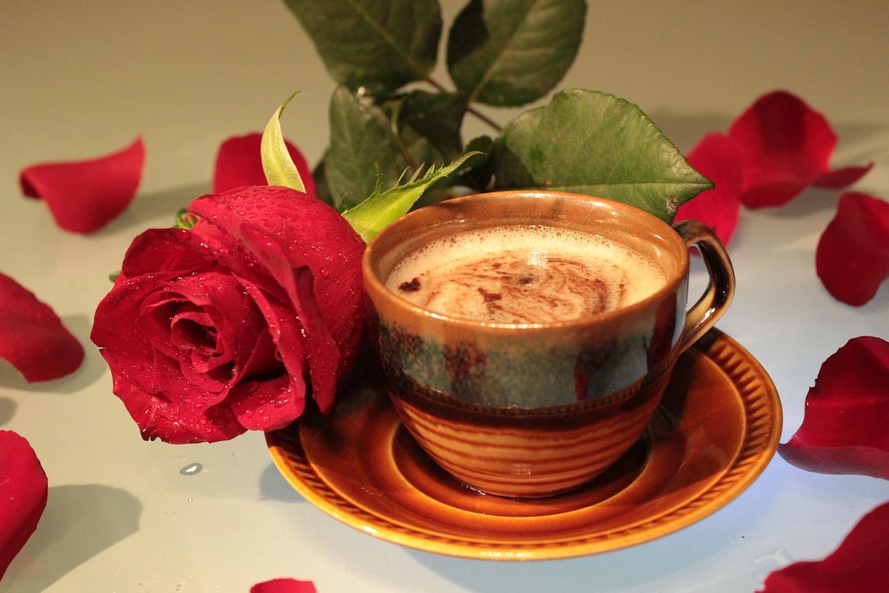 картинки кофе с розами расчете